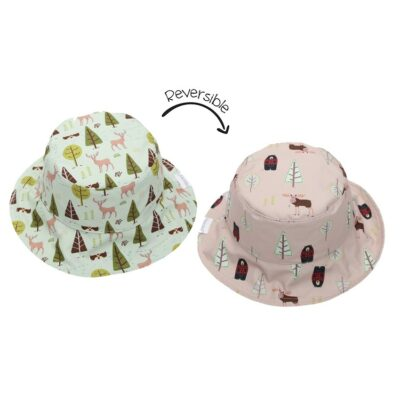 Καπέλο Διπλής Όψης UPF 50+ – FlapJackKids Moose Cottage