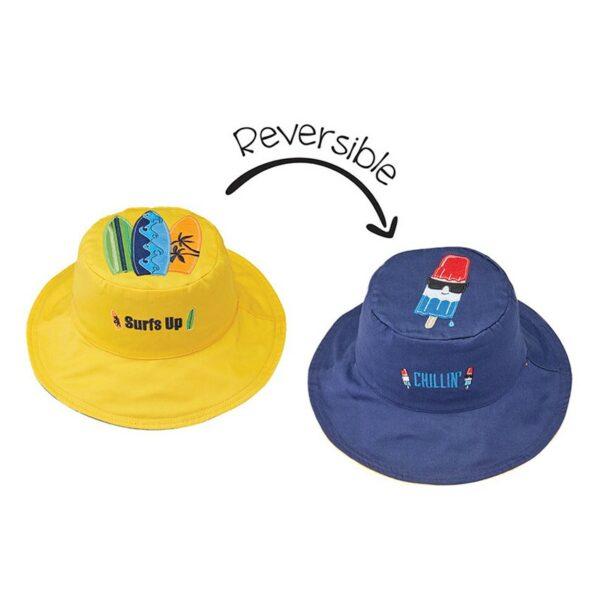 Καπέλο Διπλής Όψης UPF 50+ – FLAPJACKKIDS Baby patterned Hat Surfer/Popsicle