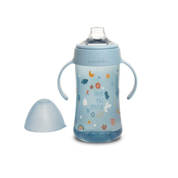 Δεύτερο Εκπαιδευτικό μπουκάλι με λαβές Suavinex - Blue Forest 270ml