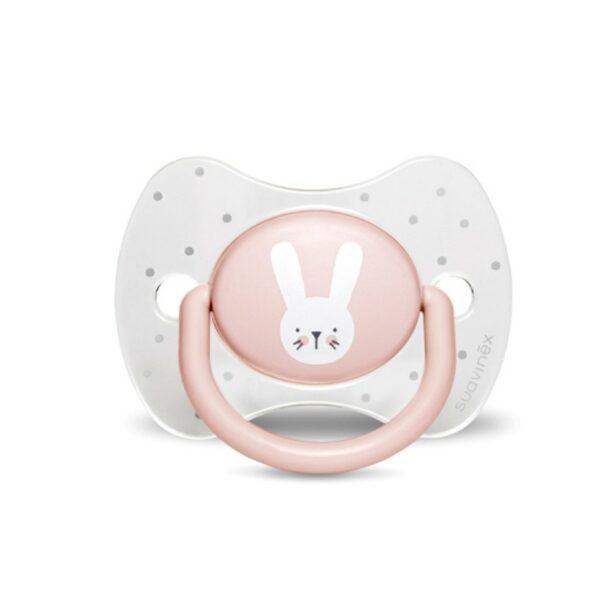 Πιπίλα Σιλικόνης για μωρά 0-6M – Suavinex Prem Physio Hygge RABBIT Pink