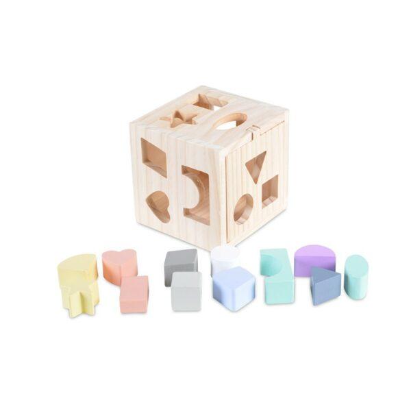 Ξύλινος Εκπαιδευτικός Κύβος - MONI Educational cube 15cm 2540