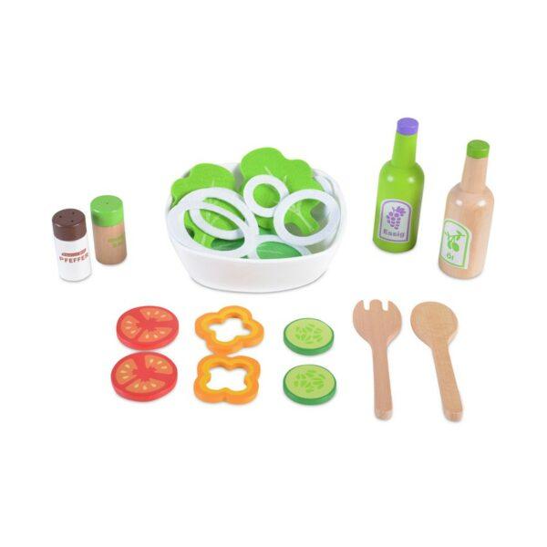Ξύλινο Σετ Σαλάτας - MONI Wooden Salad Set 4303