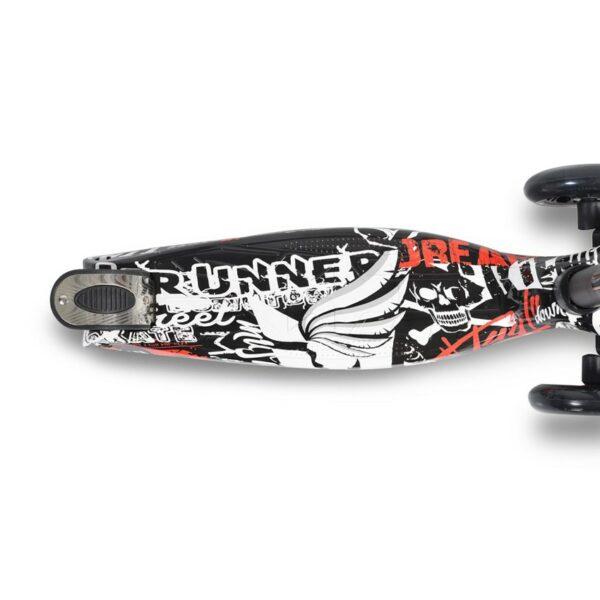 Πατίνι Scooter με Φωτιζόμενες Ρόδες - ΒYOX Rapture Black
