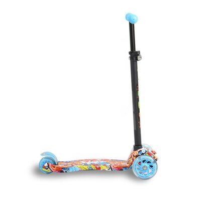 Πατίνι Scooter με Φωτιζόμενες Ρόδες - ΒYOX Rapture Blue