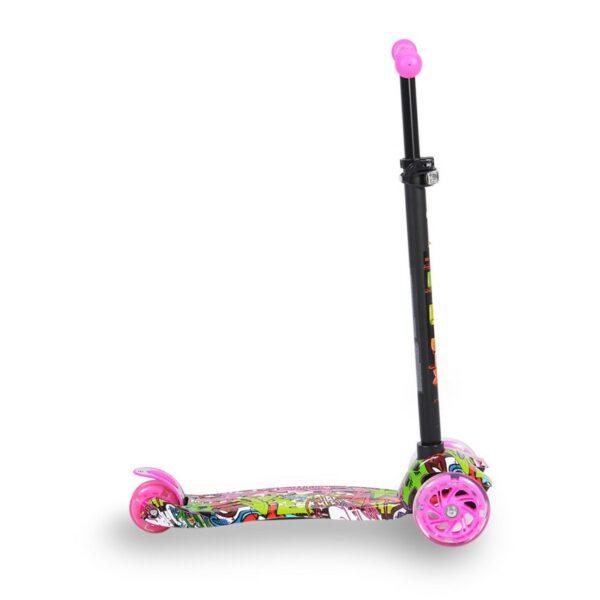 Πατίνι Scooter με Φωτιζόμενες Ρόδες - ΒYOX Rapture Pink