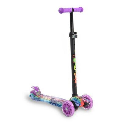 Πατίνι Scooter με Φωτιζόμενες Ρόδες - BYOX Rapture Purple