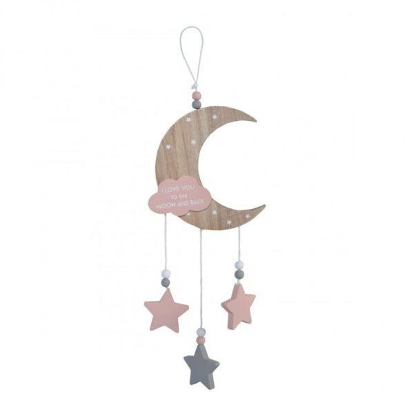 Διακοσμητικό για το παιδικό δωμάτιο - Cangaroo To the Moon and Back Pink