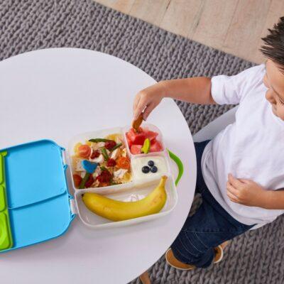 Φαγητοδοχείο 5 Θέσεων με Ρυθμιζόμενο Διαχωριστικό και Παγοκύστη 2L - BBox Lunch box Blue