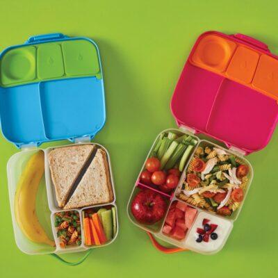 Φαγητοδοχείο 5 Θέσεων με Ρυθμιζόμενο Διαχωριστικό και Παγοκύστη 2L - B.Box Lunch box Pink