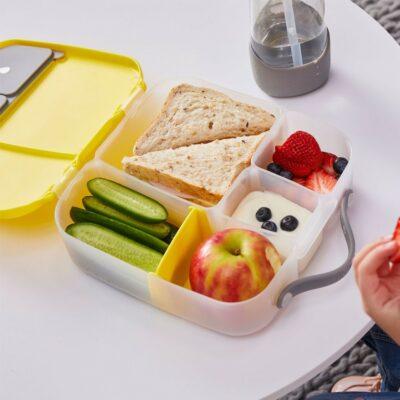 Φαγητοδοχείο 5 Θέσεων με Ρυθμιζόμενο Διαχωριστικό και Παγοκύστη 2L - B.Box Lunch box Yellow Grey