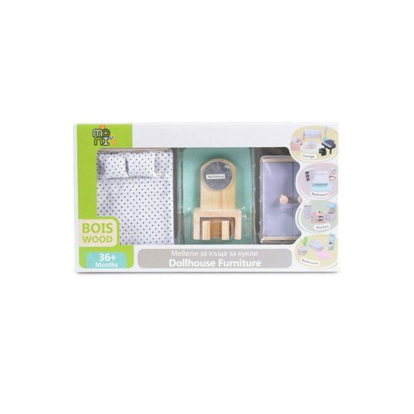 Ξύλινα Έπιπλα Υπνοδωματίου - MONI Toys 4012