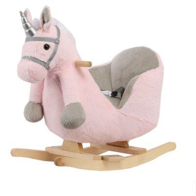 Κουνιστό Αλογάκι με κάθισμα και Ήχους - Kikka Boo Rocking toy with seat and sound Pink Horse