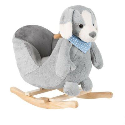 Κουνιστό Λούτρινο με κάθισμα - Kikka Boo Rocking toy Grey Puppy