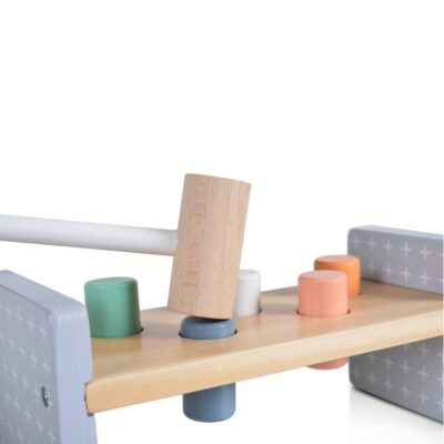 Ξύλινο Εκπαιδευτικό Παιχνίδι με Σχήματα και Σφυρί - MONI Toys 2525