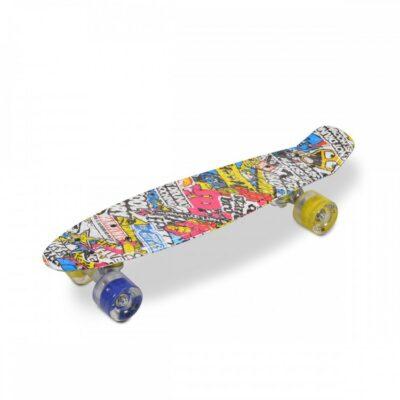 Byox Σανίδα Skateboard 22'' Hipster LED