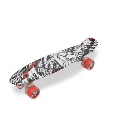 Τροχοσανίδα SkateBoard - BYOX SKULL LED 22``