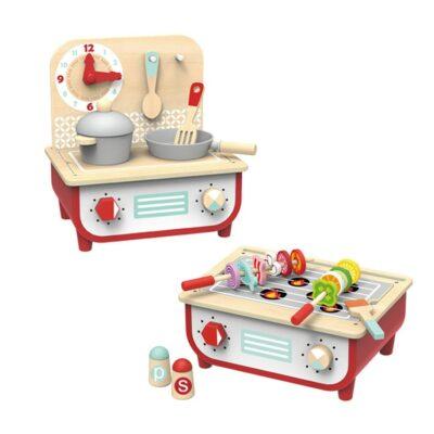 Ξύλινο Σετ Κουζίνας & BBQ - Tooky Toy TF327