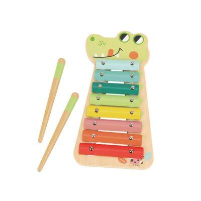 Ξύλινο Χρωματιστό Ξυλόφωνο - Tooky Toy TF570