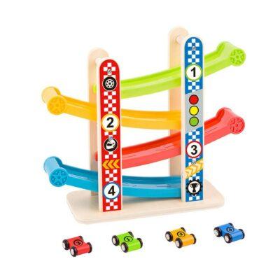 Ξύλινη Πίστα με Αυτοκινητάκια - Tooky Toy TY840