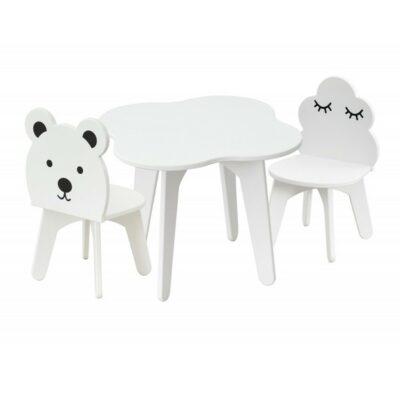 Παιδικό Τραπέζι Με 2 Καρέκλες - Babycute Αρκουδάκι Λευκό