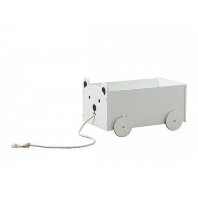 Ξύλινο κουτί Αποθήκευσης Παιχνιδιών - Babycute Αρκουδάκι Λευκό