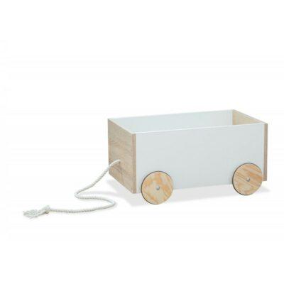 Ξύλινο κουτί Αποθήκευσης Παιχνιδιών - Babycute Somona Λευκό