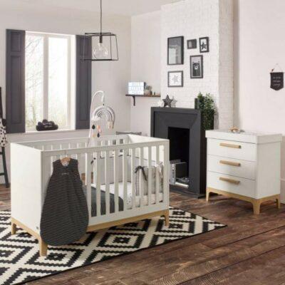 Βρεφικό Κρεβάτι Mamas & Papas Caprio Ivory/natural