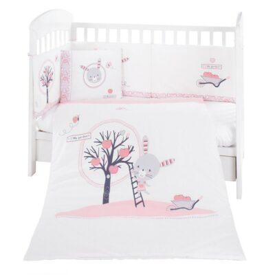 Σετ προίκα μωρού 6τμχ. - Kikka boo Bedding set 6pcs 70/140 Pink Bunny
