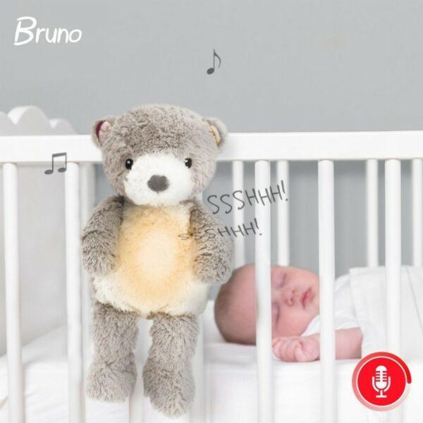 Αρκουδάκι εγγραφής φωνής και αναπαραγωγή λευκών ήχων και φως - ZAZU Bruno