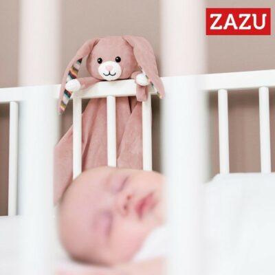 Λαγουδάκι Κουβερτάκι Αγκαλιάς με Συσκευή Λευκών Ήχων & Μελωδίες - ZAZU Becky