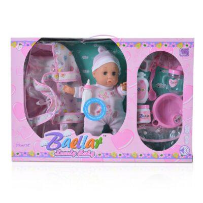 Κούκλα Μωρό 30 εκ. Με Πορτ Μπεμπέ - MONI Toys Baellar 0699