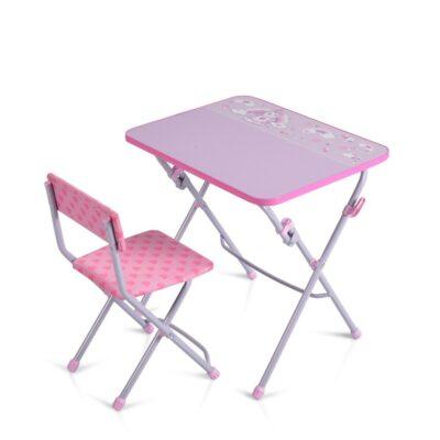 Παιδικό Θρανίο & Καρέκλα - Moni Nika KU1 - E/M1 light pink