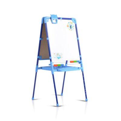 Παιδικός Πίνακας Ζωγραφικής Με Άβακα & Δίσκο - MONI Nika M2 - E/G2 Blue