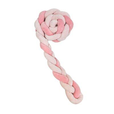 Kikka Boo - Πάντα Πλεξούδα Κούνιας 180x12 εκ. (3 Πλεξούδες) Pink
