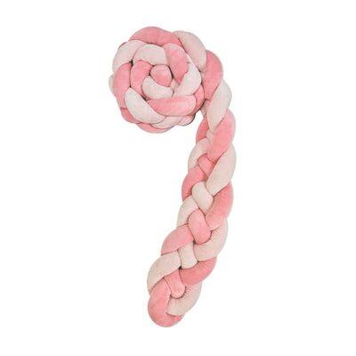 Kikka Boo - Πάντα Πλεξούδα Κούνιας 180x15 εκ. (4 Πλεξούδες) Pink