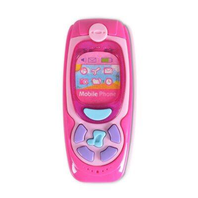 Μουσικό Παιδικό Τηλέφωνο - MONI Toys Baby phone K999-72B Pink