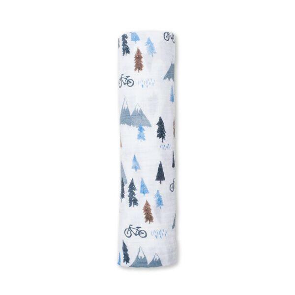 Μουσελίνα 120x120εκ. - Lulujo Mountain Top Swaddling Blanket