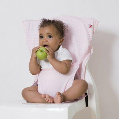 Φορητό Καθισματάκι Φαγητού - Baby To Love Pocket Chair Pink Stars