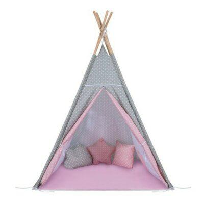 Παιδική Σκηνή - Baby Adventure Teepee Grey Pink Star