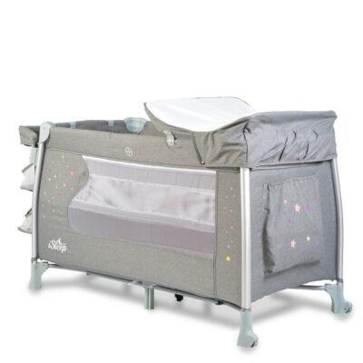 Παρκοκρέβατο iSleep 2 Επιπέδων Grey Cangaroo 3800146247942