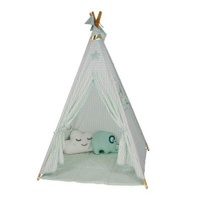 Παιδική Σκηνή 180εκ. με ΔΩΡΟ 20 μπάλες - Bebe Stars Mint Elephant