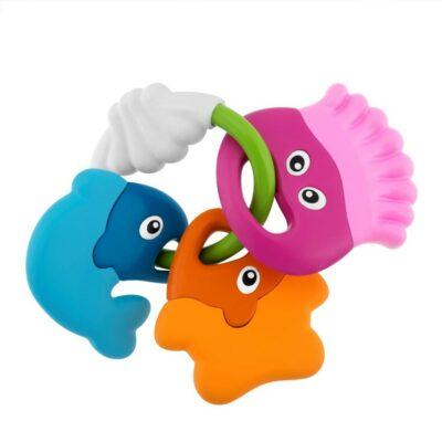 Chicco Κουδουνίστρα & Χρωματιστά Ψαράκια 3m+