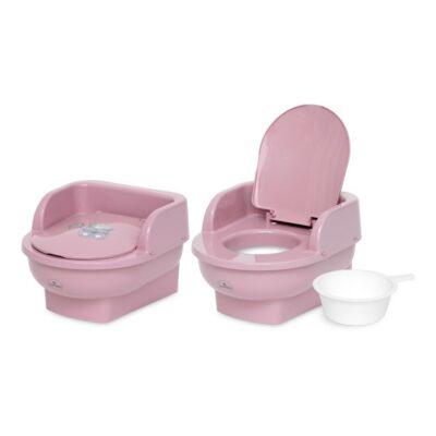 """Παιδική Τουαλέτα με κάθισμα και καπάκι - Lorelli """"THRONE"""" BEAR Dark PINK"""