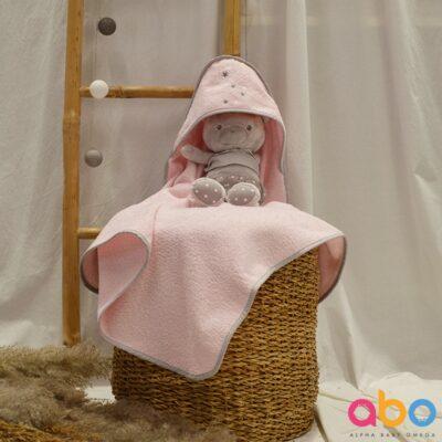 Μπουρνούζι-Κάπα - ABO Fox ροζ