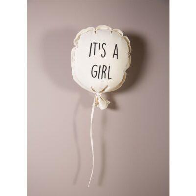 Υφασμάτινο Διακοσμητικό Μπαλόνι 35x26x8εκ. - Childhome It's A Girl