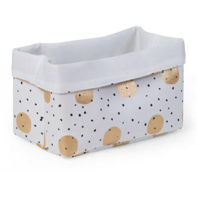 Κουτί Αποθήκευσης 32x20x20εκ. - Childhome White Gold Dots