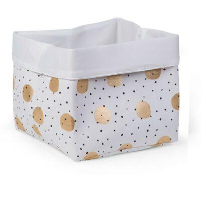 Κουτί Αποθήκευσης 32x32x29εκ. - Childhome White Gold Dots