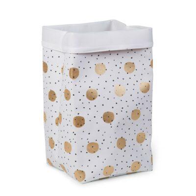 Κουτί Αποθήκευσης 32x32x60εκ. - Childhome White Gold Dots