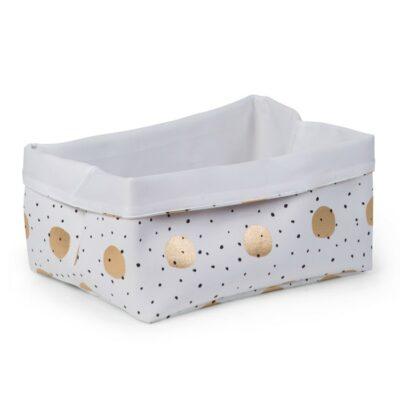 Κουτί Αποθήκευσης 40x30x20εκ. - Childhome White Gold Dots