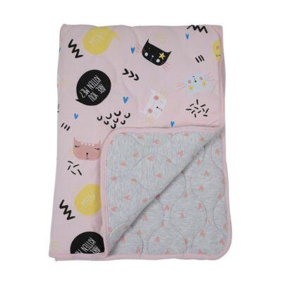 Βαμβακερή Κουβέρτα Αγκαλιάς & Λίκνου 85x115εκ. - Minene Winter Quilt Kitten